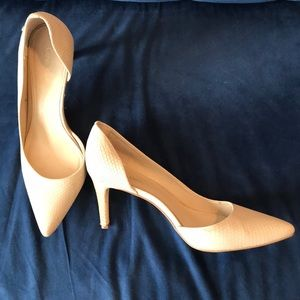Calvin Klein cream d'orsay pumps